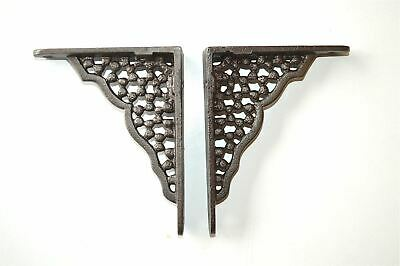 A Pair Of Small Honeycomb Shelf Brackets Cast Iron Wall Shelf Bracket
