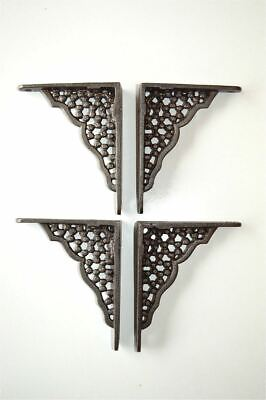 Two Pairs Of Small Honeycomb Shelf Brackets Cast Iron Wall Shelf Bracket