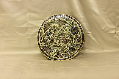 Antique Original Perfect Persian Hand Painted Heavy Ceramic