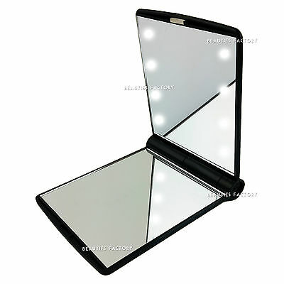 Black Ladies Handbag Cosmetic Mirror Double Sided Compact Vanity Make Up 1005BK