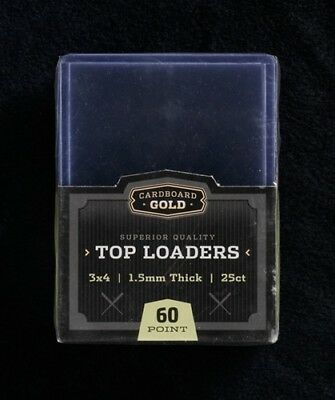(1000) 1 CASE 1.5MM CBG THICK BASEBALL TRADING CARD STORAGE TOPLOADERS 59pt.