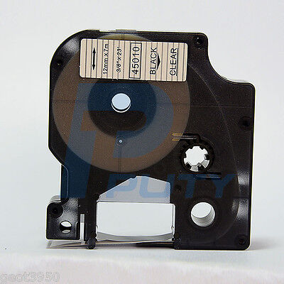 """DYMO D1 COMPATIBLE 24mmX7m TAPE BLACK / CLEAR 1"""" x 23' STANDARD 53710"""