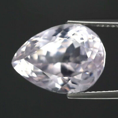 11.56ct 15x11mm VS Clean! Pear Natural Untreated Very Light Pink Kunzite