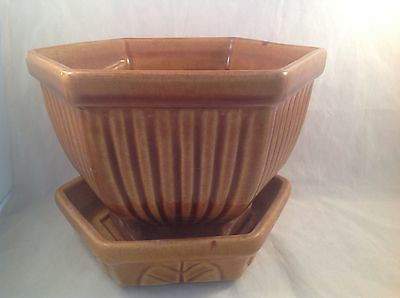 Haeger Pottery Brown Planter 892  Made In USA