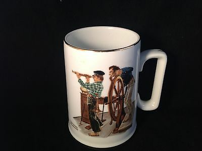 "Norman Rockwell ""River Pilot"" Porcelain Tankard LJS Seafarers Collection"