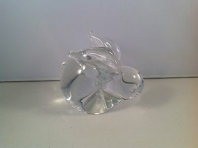Crystal Rabbit Paperweight Contemporary Glass