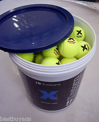 72 New Tretorn Micro X Cell Pressureless Tennis Balls For Ball Machine &training