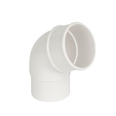 NEW White Offset Bend 112.5° 68mm