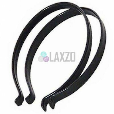 Pair of Black Steel Protective Trouser Clips for Cycling Bike Bicycle