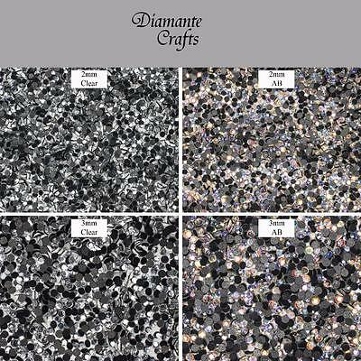 Iron On / Hotfix Glass Rhinestone Diamante Gems Flat Back choose size & colour