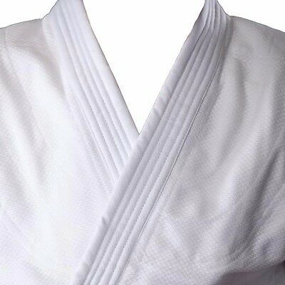 White Student Judo Suit GI 100% Cotton With Free White Belt