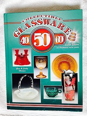 ❤Collectible Glassware Book 1940 50 60 Value Guide Color Illus HB 8 Ed Florence❤