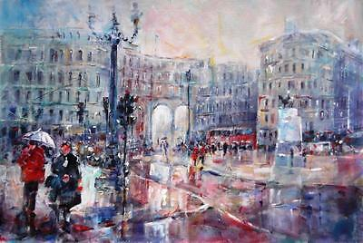 "NEW SERA KNIGHT ORIGINAL  """"London City - Facing Admiralty Arch""  PAINTING"
