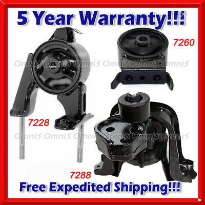 3PCS MOTOR MOUNT FOR 2000-2005 TOYOTA ECHO FAST SHIPPING