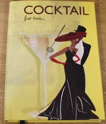 A5 Letts Retro Art Deco Cocktail Notebook Flexi Cover & Lined  G8N