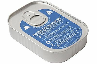 Sardine Can Emergency Outdoor Survival Kit Blue