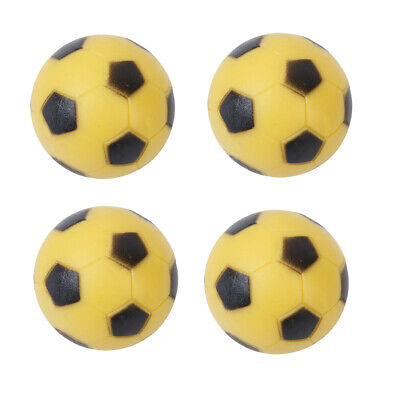 lot of 4Pcs 36mm Plastic SOCCER TABLE football FOOSBALL BALLs Black & Yellow Set