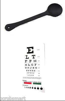 OCC-PSN 2 Piece Set - Occluder Plus Snellen Pocket Eye Exam Chart