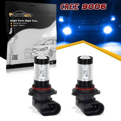 2Pcs 9006 9006XS Fog Driving Light Blue 30W Real 6-Cree-XB-D Projector Lens