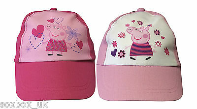 Peppa Pig - New Official Girls Cap Summer Hat Age 3-6 Years Light Pink e7db3a6913b1