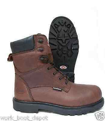 Iron Age Hauler Brown Leather Waterproof Composite Toe Work Boot IA0180 Wide