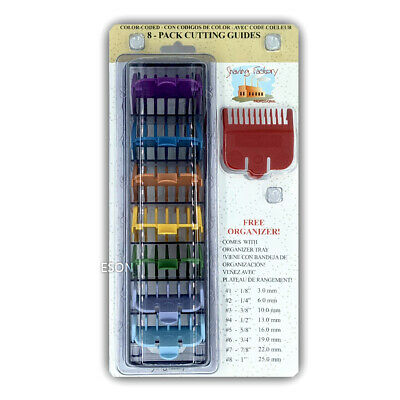 Shaving Factory Professional 8 Pack Colour Guard Size 1-8 with FREE ORGANIZER