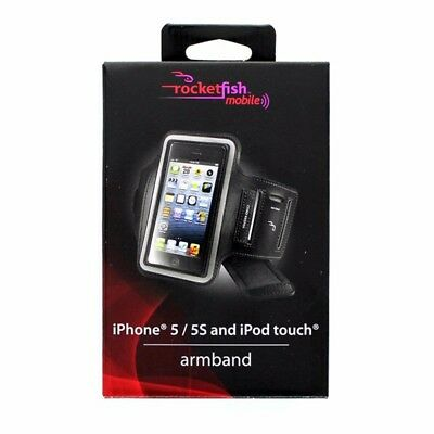 Rocketfish Armband Case RF-A5AB2B for iPhone SE, 5/5S and iPod Touch - Black