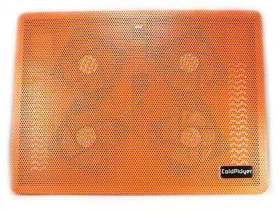 Orange USB 4 Fan High Power Cooler Notebook Cooling Pad Laptop Mute 15 Inch IN