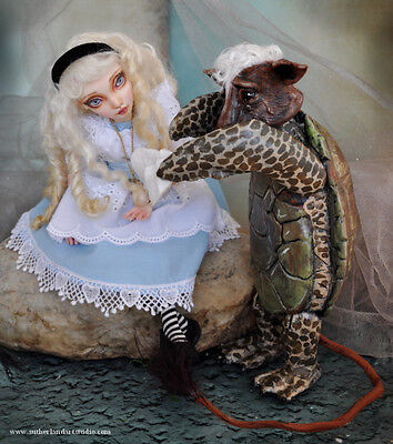 Special Order 1/2 Down Mock Turtle Alice In Wonderland Art Doll By Sutherland