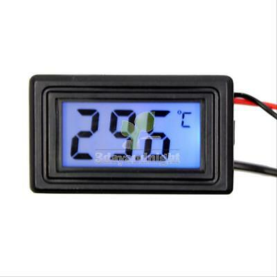 Blue LED Digital Temperature Meter -50℃ - 110 ℃ Thermometer With Sensor C/F