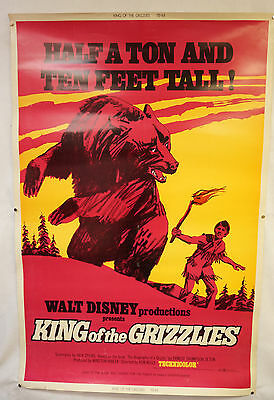 King of the Grizzlies Original Movie Poster 1970 John Yesno