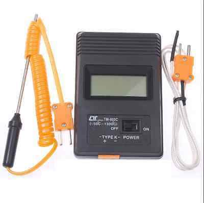 TM-902C LCD Type K Digital Thermometer + 2 Thermocouple Probe