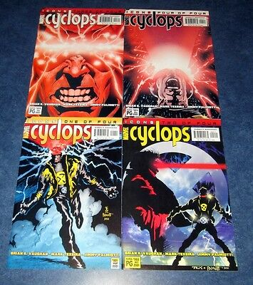 CYCLOPS #1 2 3 4 1st print set ICONS MARVEL 2001 BRIAN K VAUGHAN X-MEN TEXIERA