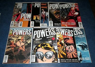 POWERS 1 2 3 4 5 6 9 11 12 13 1st print set (10) ICON COMIC 2004 M.A. OEMING TV