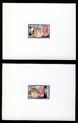 SENEGAL 1998 Henriette-Bathily Women's Museum Set PROOFS or ESSAYS on White Card