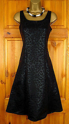 New Exchainstore Ladies Black Stretchy Summer Party Cocktail Dress Uk 12