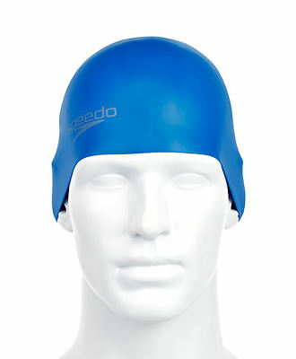 Speedo Plain Moulded Neon Blue Silicone