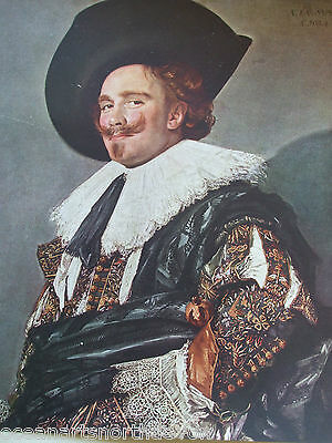 Antique Print C1930S Paintings The Laughing Cavalier By Frans Hals Vintage