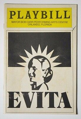 Evita - National Tour Playbill