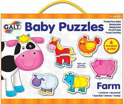Galt BABY PUZZLE FARM Baby/Toddler/Child Jigsaw Educational Toy/Activity BN