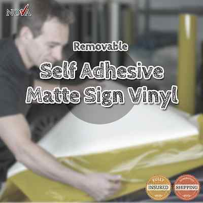 """Matte Removable Self Adhesive Sign Vinyl  24"""" X 12""""  for ***FREE SHIPPING***"""