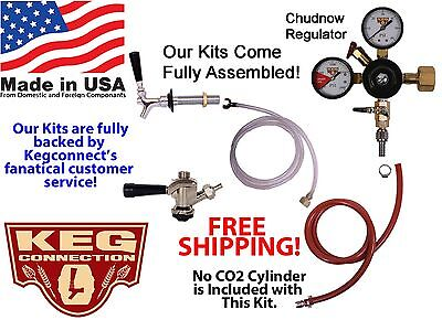 1 Tap Kegerator Standard Conversion Kit w/beer shank and faucet (CK2100S-Ebay)