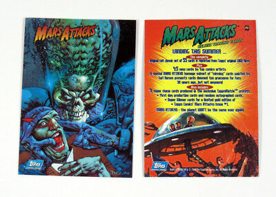 1994 Topps Mars Attacks Archives Promo Card (P2) Nm/Mt