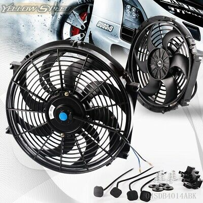 "14"" Universal 14"" Slim Pull Push Racing Electric Radiator Engine Cooling Fan"