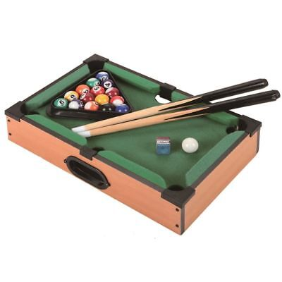 Baby Mini Table Top Pool Set Childrens Cue Balls Toy Snooker Toy Game Xmas Gifts