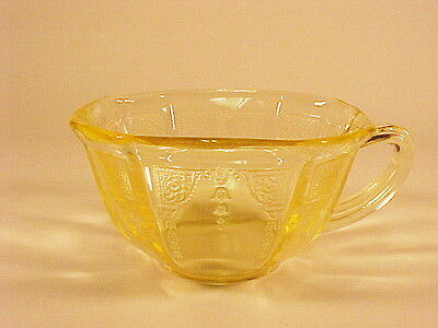 9 Vintage Yellow Princess Cups / Hocking Glass Co