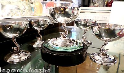 OSCAR BACH SIGNED STERLING SILVER SWAN WINE GLASS GOBLET, 5 Available