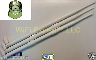 3x HIGH GAIN 9dBi RP-SMA Antennas for D-Link DIR-665 TP-Link TL-WA901ND Router