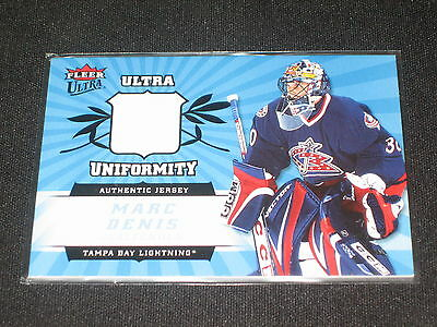 Marc Denis Authentic Pack Pulled Game Used Jersey Certified Hockey Card Rare