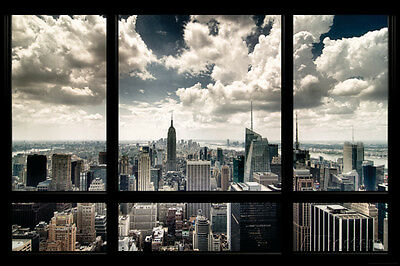 New York Window Poster Print, 36x24